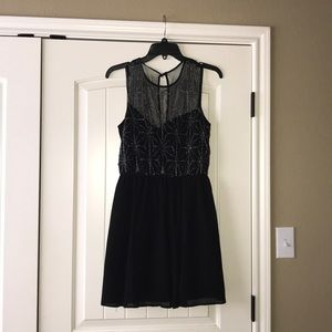 Black Dress with silver beading design